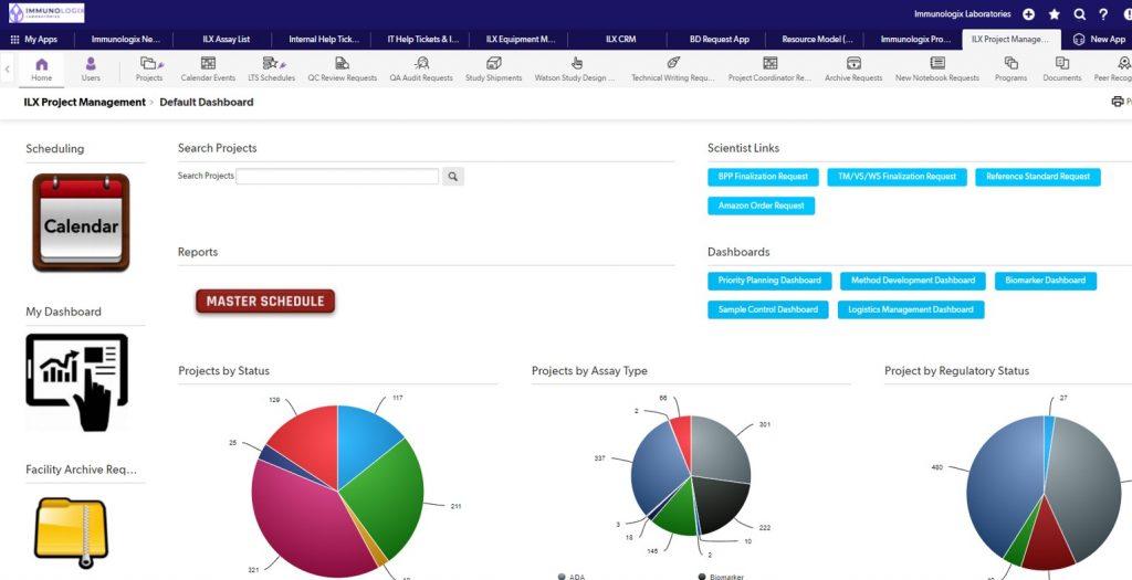 Screenshot of scientific software in use